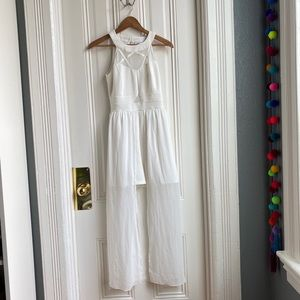 Sweet Storm White Romper with Train